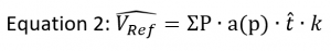 Transitional reference volume calculation